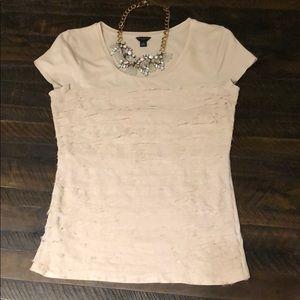 Beautiful cream Ann Taylor ruffle blouse
